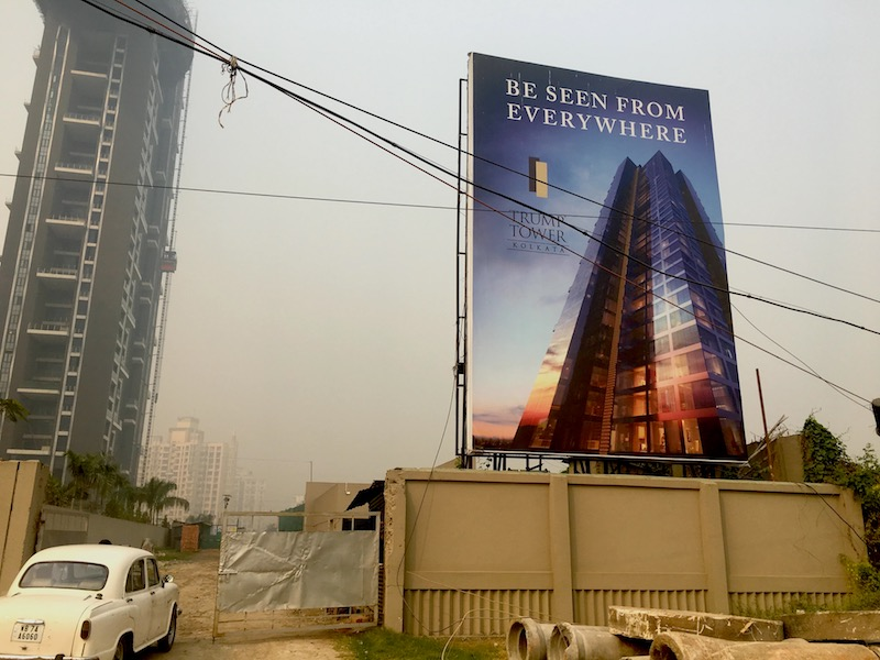 The future site of Trump Tower Kolkata. One of the Trumps' partners on the project, RDB Group, was raided by Income Tax officials over alleged financial irregularities in February, a day after Donald Trump Jr.'s visit.