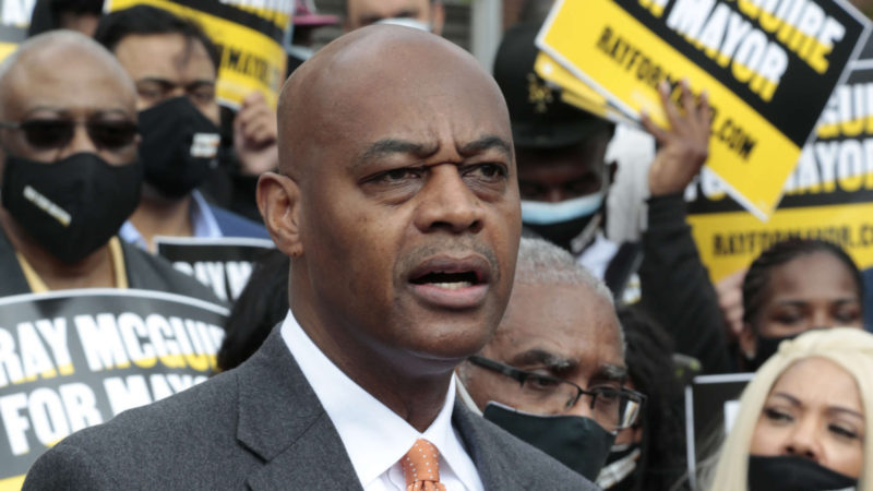 Mayoral candidate Ray McGuire at an April rally